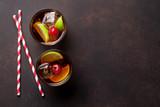 Cuba libre cocktail
