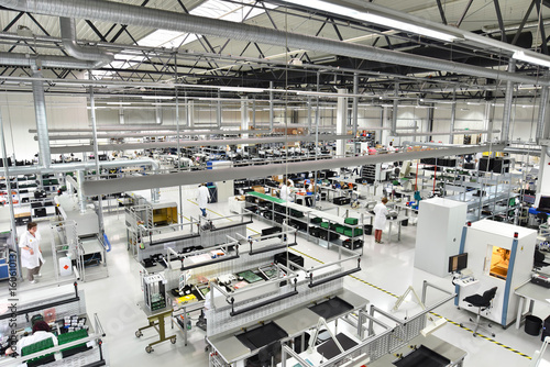 Factory for assembly of electronic components