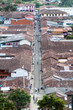 Quadro SALENTO, COLOMBIA - SEPTEMBER 7, 2015: Aerial view of Calle Real (Royal Street) in Salento village, Colombia