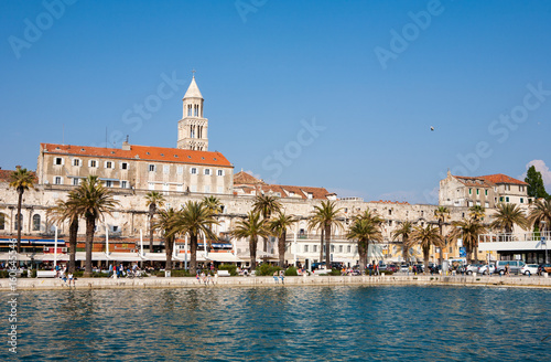The UNESCO heritage Diocletan Palace and the Dome in Split, Croatia