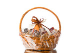 gift basket on white background - 160666364