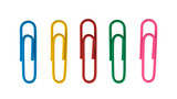 colorful Paper clip isolated on white background - 160701175