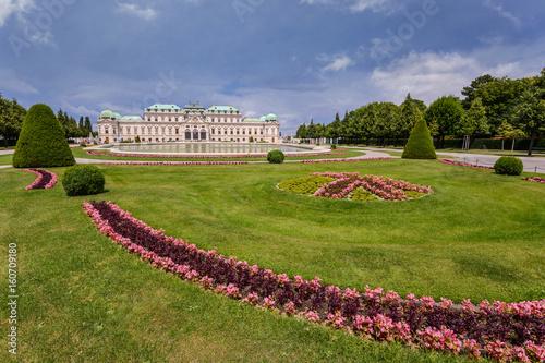 Belvedere Palace and flower garden, Vienna, Austria