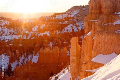 Sunrise Backlit Mountain Range