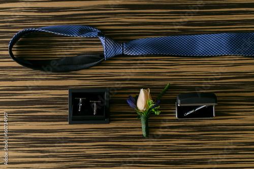 Wedding details. Groom accessories.
