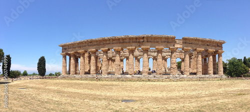 The temple of  Hera, ruins of Paestum