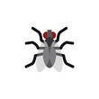 Isolated Mosquito Flat Icon. Gnat Vector Element Can Be Used For Gnat, Mosquito, Hum Design Concept.