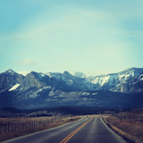 Beautiful View of Rocky mountians - Instagram effect