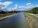 京都 鴨川 丸太町橋より北方向