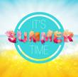 Summer time background, Splash paint
