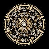 diamond flower circle luxury background vector