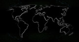 Landkarte * Weltkarte Nacht