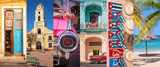 Cuba, panoramic photo collage, Cuban symbols, Cuba travel and tourism concept - 160813140