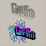 Graffiti sketch and final in vector.