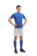 Full length portrait of a teenage soccer player