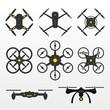 Drones Vector Set - 160853364