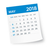 May 2018 Calendar Leaf - Illustration - 160856380