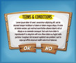 Wood Terms And Conditions Agreement Panel For Ui Game - 160871572