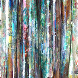 Grunge style abstract watercolor painting bamboo background. - 160881563