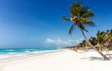 Paradies in der Karibik: Strand von Tulum, Maya Küste, Mexiko - 160892573