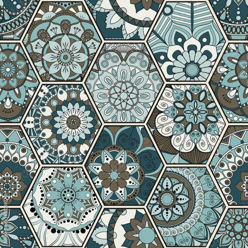 luksusowy-orientalny-dachowka-wzor-kolorowy-kwiatowy-patchwork-tlo-styl-szykowny-mandala-boho-bogaty-kwiatek-elementy-konstrukcyjne-szesciokatne-portugalski-motyw-marokanski-niezwykly-efekt-rozkwitania