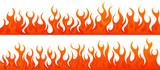 Fire flames vector set - 160916569