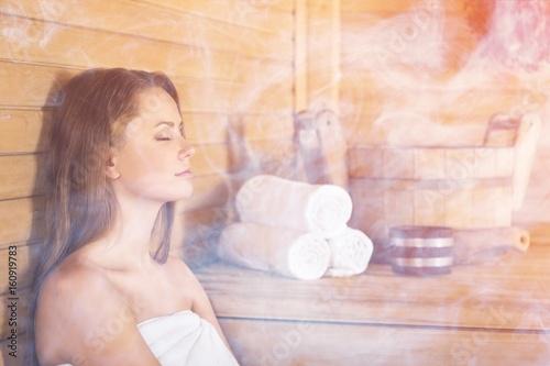 Leinwanddruck Bild Sauna.