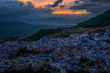 Beautiful city of Chefchaouen going into blue hour.  - 160922135