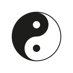 Ying, yang sign. Vector.