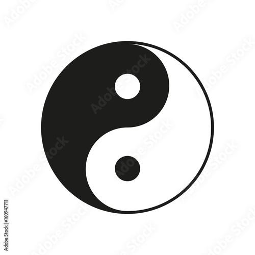 Ying, yang sign. Vector.