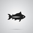 Isolated Tuna Icon Symbol On Clean Background. Vector Tunny Element In Trendy Style.