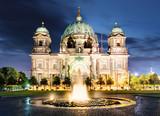 Berlin, Berliner dom at night