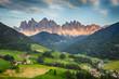 Quadro Dolomites alps, Mountain - Val di Funes