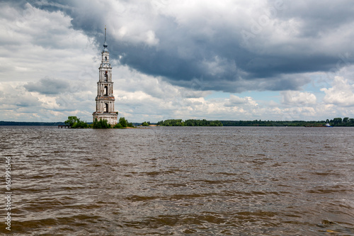 Belltower of the St. Nicholas Cathedral, Kalyazin, Russia Poster