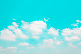 Cloud on blue sky background-Vintage effect style picture