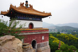 View of the landmark Summer Palace, a complex of historic buildings and gardens in Beijing