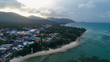 Summer morning clear blue sea and sky of tropical island at Koh Phangan, Thailand - 161046755