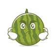 Angry watermelon character cartoon style - 161058965