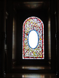 Vintage Victorian stained glass window - 161077540