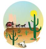 Western Scene Wall Sticker
