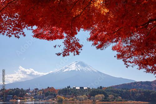 Aluminium Rood paars 秋の河口湖と富士山