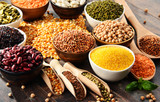 Composition with variety of vegetarian food ingredients - 161147901