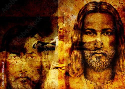 interpretacja-jezusa-na-krzyzu-wersja-malarstwa-graficznego-efekt-sepii