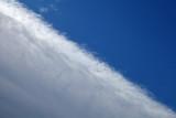 Limite d'une zone nuageuse