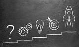 Problem und Lösung Business Konzept Kreidetafel - 161166111