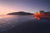 gorliz beach at sunset