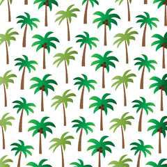 palm tree pattern on white