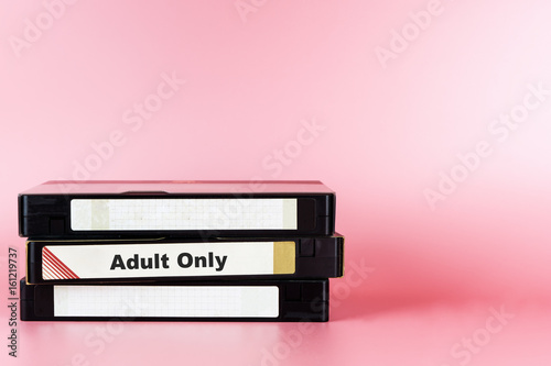 Adult movie only labeled on Video Tape for Pornography movie concept Poster
