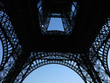 Close up of Eiffel tower part in Paris