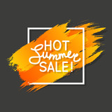 Summer sale message on color design element
